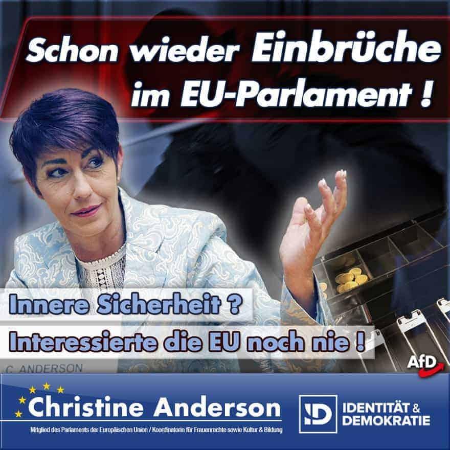 Schon wieder Einbrüche im EU-Parlament