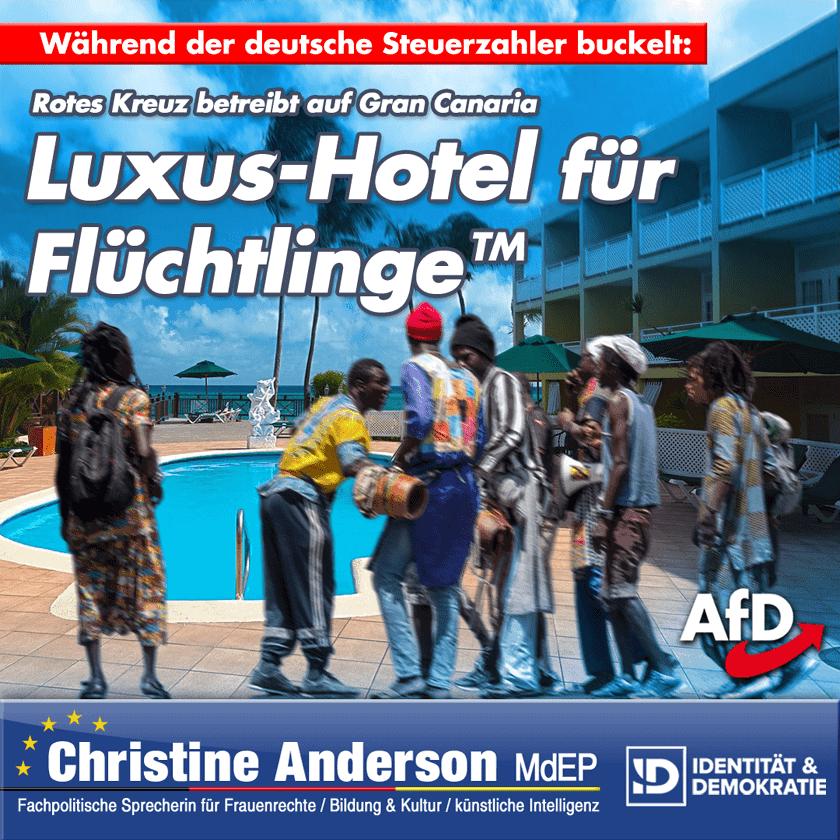 Luxus-Hotel für Flüchtlinge